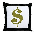 Dollar Sign Throw Pillow