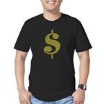 Dollar Sign Men's Fitted T-Shirt (dark)
