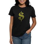 Dollar Sign Women's Dark T-Shirt