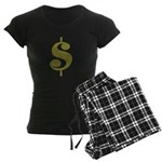 Dollar Sign Women's Dark Pajamas