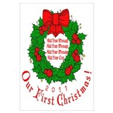 Our 1st X'mas Add Your Text Wall Art
