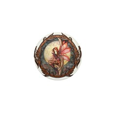Autumn Red Gothic Fairy Art Mini Button (100 pack)