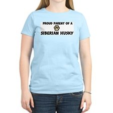Proud Parent: Siberian Husky Women's Pink T-Shirt