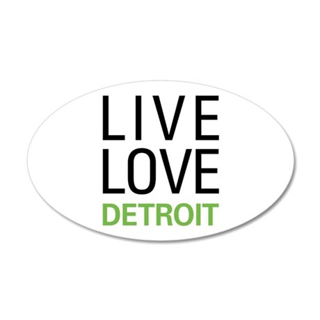 Live Love Detroit 20x12 Oval Wall Decal