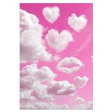 Heart Clouds Wall Art