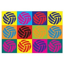 Volleyball Pop Art Wall Art