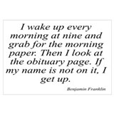 Benjamin Franklin quote 78 Wall Art