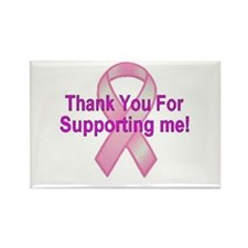 Thank You Breast Cancer Rectangle Magnet (10 pack)