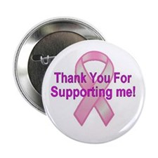 """Thank You Breast Cancer 2.25"""" Button"""