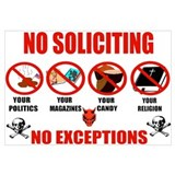 No Solicitors Wall Art