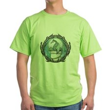 Green Dragon Fantasy Art T-Shirt
