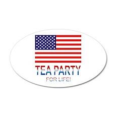 Tea Party 22x14 Oval Wall Peel