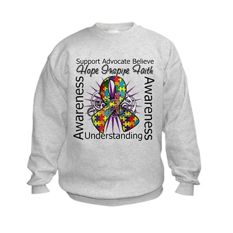 Autism Hope Inspiring Kids Sweatshirt