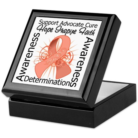 Uterine Cancer Hope Inspiring Keepsake Box