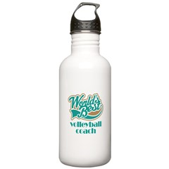 Volleyball Coach Gift (World's Best) Water Bottle