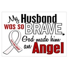 Angel 1 HUSBAND Lung Cancer Wall Art