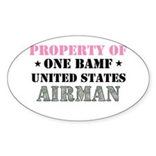 Cute Air force girlfriend Decal