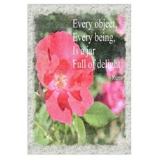 Rumi Quote Painted Rose Wall Art