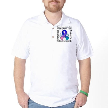 Thyroid Cancer Hope Inspiring Golf Shirt
