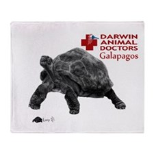 Galapagos Giant Tortoise Throw Blanket