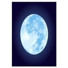 Blue Full Moon Wall Art