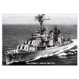 USS JAMES C. OWENS Wall Art