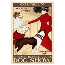 The Dog Show Retro Wall Art