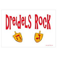 Dreidels Rock Hanukkah Wall Art