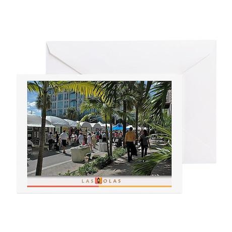 Las Olas Art Fair Print 1 Greeting Cards (Pk of 20