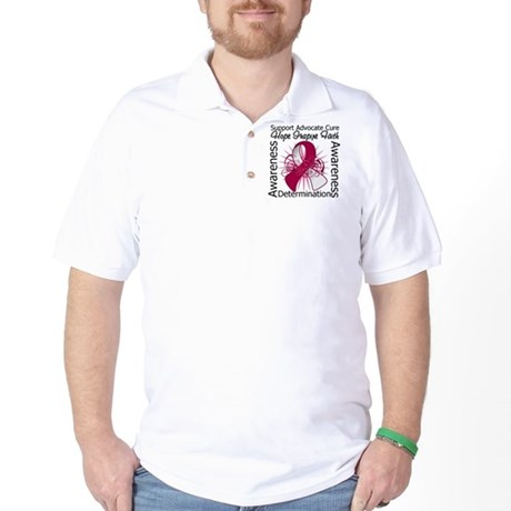 Throat Cancer Hope Inspiring Golf Shirt