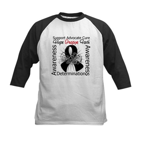 Skin Cancer Hope Inspiring Kids Baseball Jersey