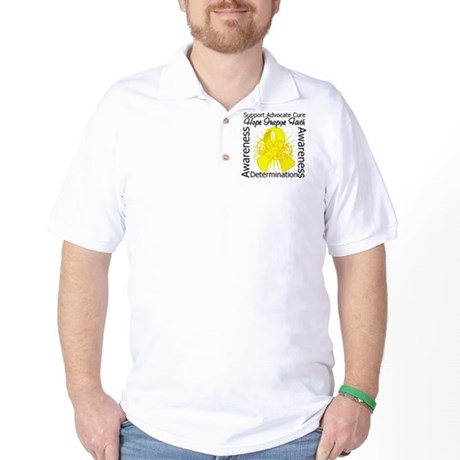Sarcoma Cancer Hope Inspiring Golf Shirt