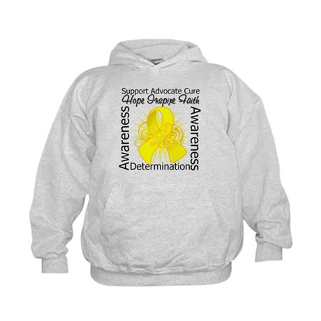 Sarcoma Cancer Hope Inspiring Kids Hoodie
