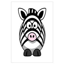 Cartoon Zebra Wall Art