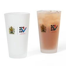 Royal Emblem Wales Masonic Drinking Glass