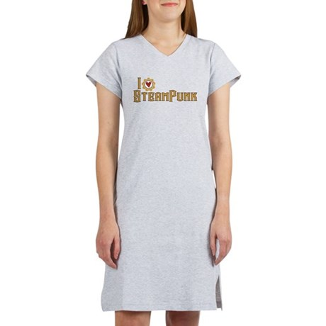 I Love Steampunk Women's Nightshirt