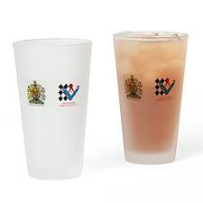Royal Emblem New Zealand Masonic Drinking Glass