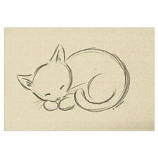 Sleeping Kitten Wall Art