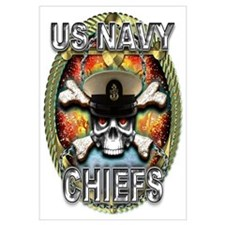 US Navy Chiefs Skull Wall Art