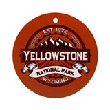 Yellowstone Crimson Ornament (Round)