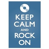 Keep Calm Rock On Wall Art