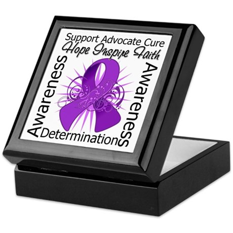 Pancreatic Cancer Hope Inspire Keepsake Box