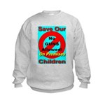 No Guns Allowed On Premises Kids Sweatshirt