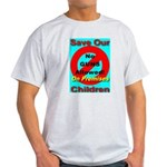 No Guns Allowed On Premises Ash Grey T-Shirt