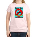 No Guns Allowed On Premises Women's Pink T-Shirt