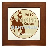 Santorum WYOMING Framed Tile