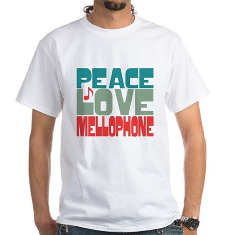 Peace Love Mellophone White T-Shirt