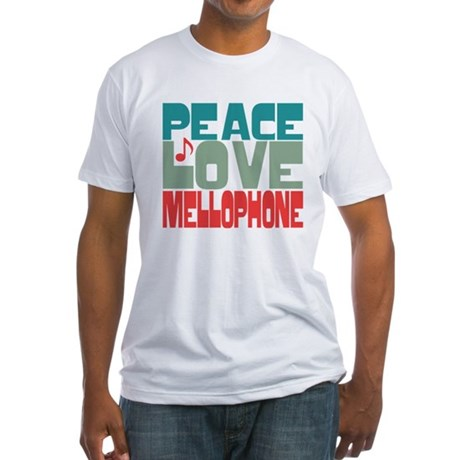 Peace Love Mellophone Fitted T-Shirt