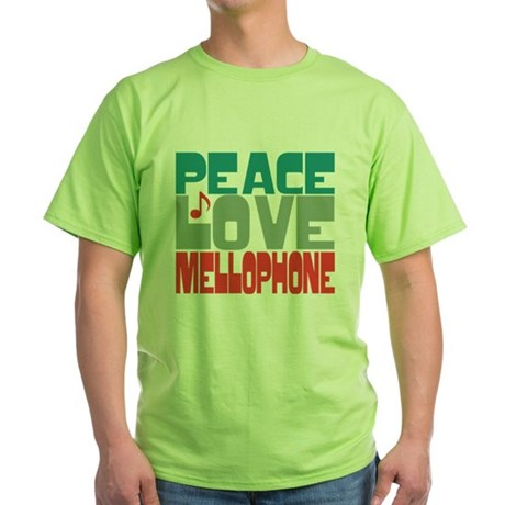 Peace Love Mellophone Green T-Shirt