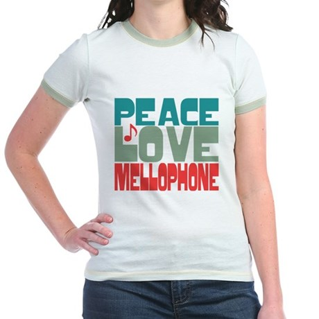 Peace Love Mellophone Jr. Ringer T-Shirt